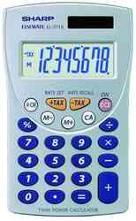 SHARP EL371SB Taschenrechner Tax+/Tax-