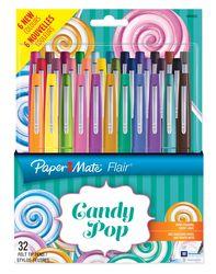 PAPERMATE 1985622 Faserschreiber FLAIR Set Candy Pop 32 Stück
