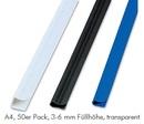 FELLOWES Klemmschiene Relido A4, 50er Pack, 3 - 6 mm Füllhöhe, transparent