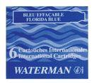 WATERMAN S0110950 Tintenpatronen International Schachtel à 6 Patronen (floridablau)