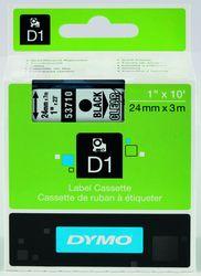 DYMO S0720920 LabelManager Schriftband D1, 24mm x 7m, schwarz auf transp.