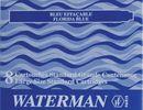 WATERMAN S0110860 Tintenpatronen Standard Schachtel à 8 Patronen (floridablau)