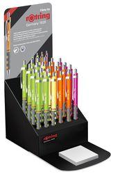 ROTRING 2044677 TIKKY Kugelschreiber 24er Display Neon Orange/Grün/Pink/Gelb (M, Blau)