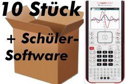 TI-Nspire CX II-T 10P Grafikrechner Lehrerpaket  DEU / FRA / ENG 10er Pack